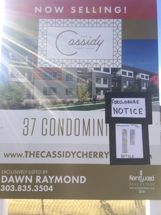 The Cassidy Foreclosure Notice